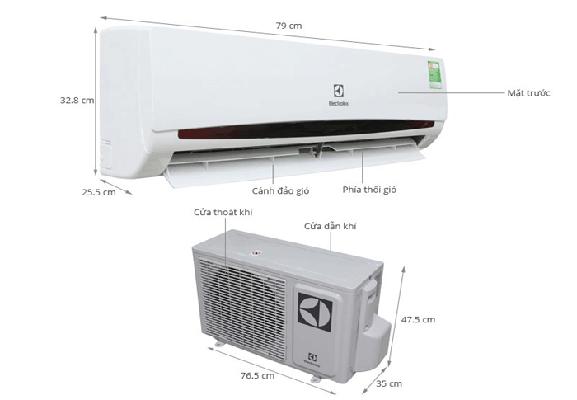 Điều hòa treo tường Electrolux 1 chiều 9000Btu ESM09CRF-D1